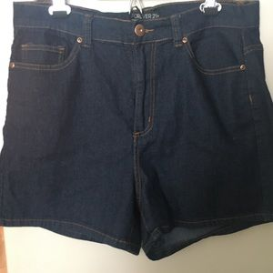 F21+ denim shorts
